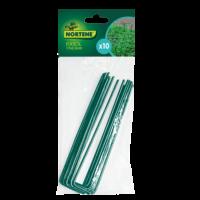 FIXSOL - 10 db zöld, U alakú fém rögzítőkapocs