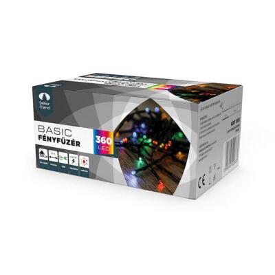 Dekortrend Kültéri LED Fényfüzér 180 db SZÍNES LED-del,  timer funkcióval