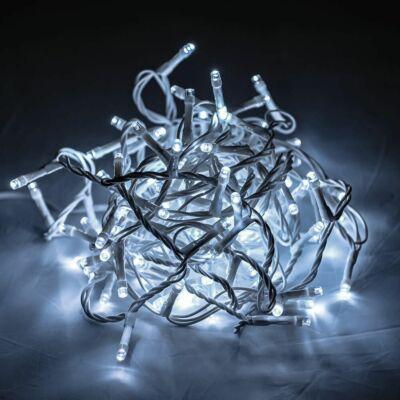 Vezérlős LED fényfüzér fehér kábeles - hideg fehér szín 6 m, 120 LED
