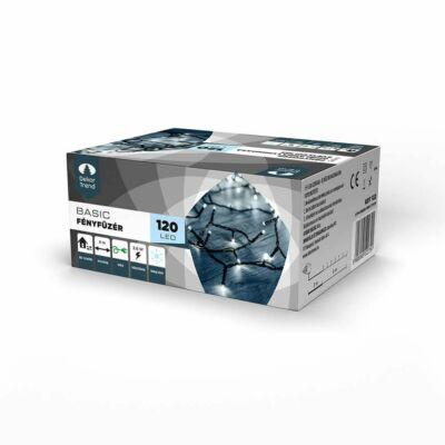 Dekortrend Kültéri LED Fényfüzér 120 db HIDEG FEHÉR LED-del,  timer funkcióval