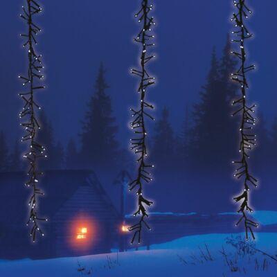 Meteor fényfüggöny, hideg fehér, fekete kábel, 2x1 méter, 480 LED