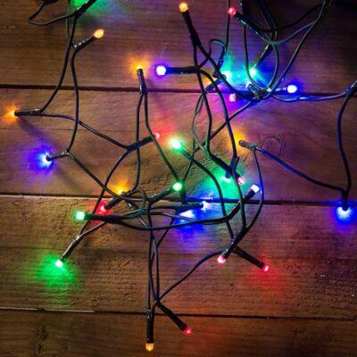 LED fényfüzér, multi, 40 LED, 3,2 méter
