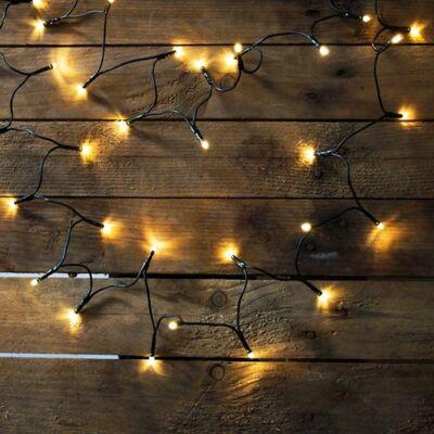 LED fényfüzér, meleg fehér, 40 LED, 3,2 méter