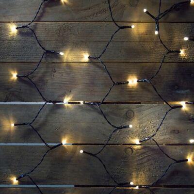 Fényfüggöny, meleg fehér, 1,5x1,5 m, fekete kábel, 198 LED