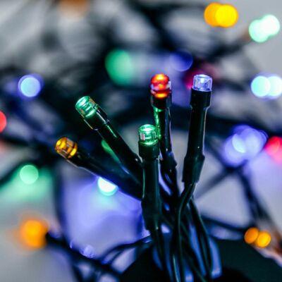 Dekortrend Basic 40 LED fényfüzér timer funkcióval, elemes, színes
