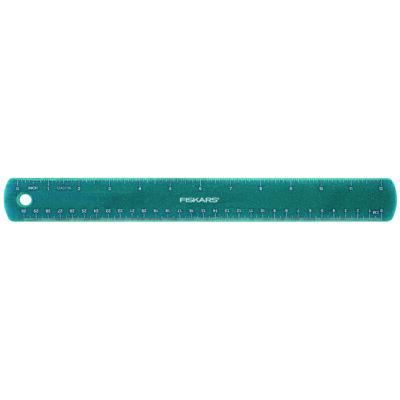 Gyerekvonalzó kék csillámokkal, 30 cm